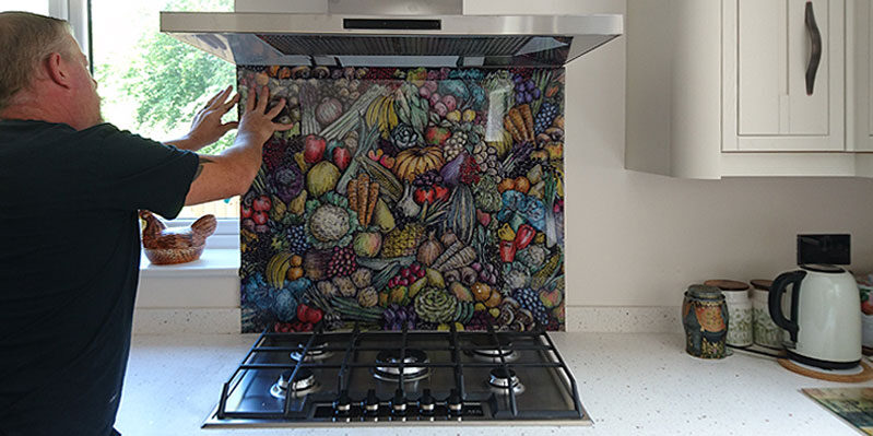 VEG Kitchen Hob Splash Back